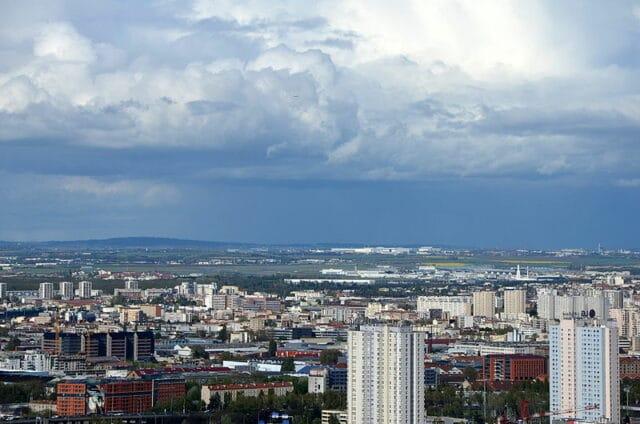 L'est de la Seine Saint-Denis vue depuis le dome du Sacré Coeur
