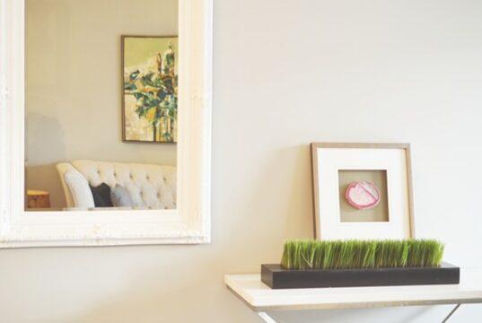 Salle de bain, miroir, miroir connecté