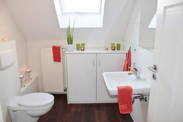 salle de bain avec w.c suspendus