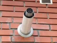 cheminée coaxiale pour chaudière au gaz