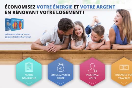profitez de la Prime Eco Travaux Carrefour