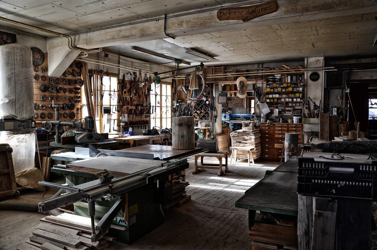 Un atelier de bricolage