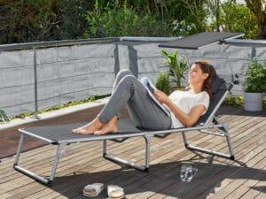 bain de soleil LIDL en aluminium